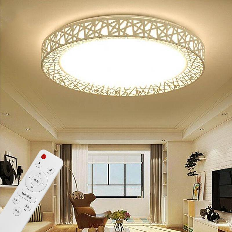 Modern LED Ceiling Lamp 12/24/36W Dimming Chandelier LED Light Remote Controller Fixture Home Living Bedroom Lighting 80-240V