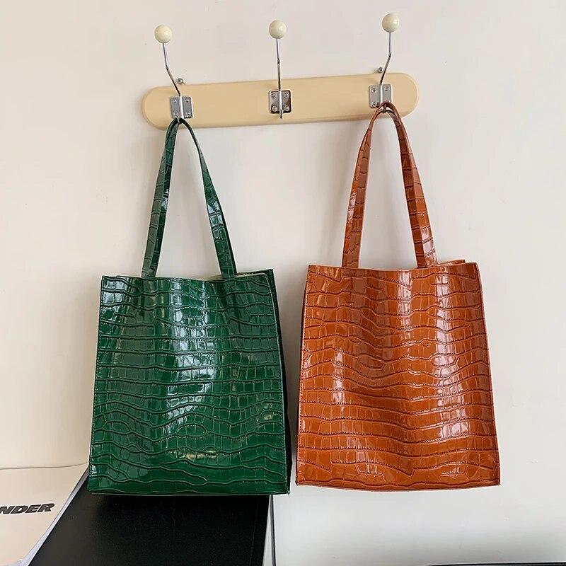 Moda crocodilo padrão de couro sacos de ombro para as mulheres grande capacidade totes saco designer bolsas alta qualidade crossbody saco