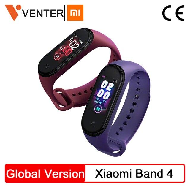 Em Estoque Xiao mi mi mi Banda 4 Inteligente banda 4 Freqüência Cardíaca Rastreador De Fitness 135 mAh Bluetooth 5.0 50 M AI Inteligente Pulseira À Prova D Água