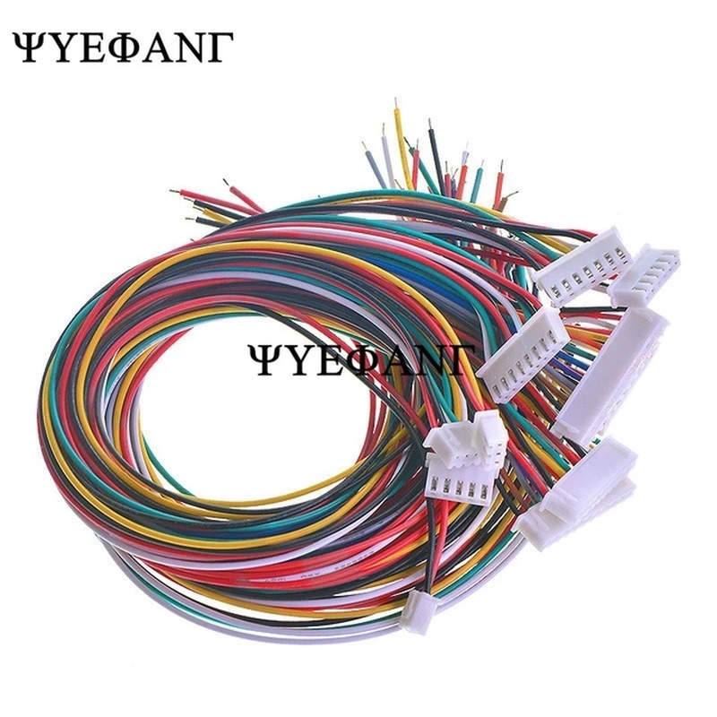 200pcs/lot 26AWG JST XH2.54 4Pin XH-2.54 Pitch 2.54mm Connector Plug With Wire Cable 50cm Length