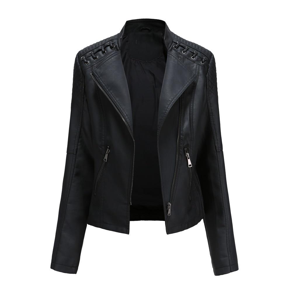 Весенне-осенняя Женская Куртка стильная обувь для поездок на мотоцикле; Куртка Верхняя одежда для детей, модное пальто из кожзаменителя для...