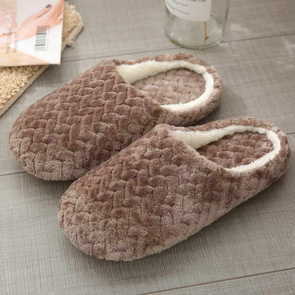Warm Home Plush Soft Slippers Women's House Slippers Slip-On Anti-Skid Flower Indoor Bedroom Casual Shoes woman Snow Slipper