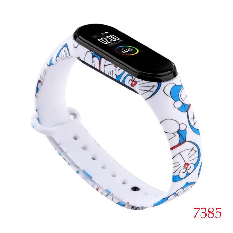 Для Xiaomi Mi Band 4/3 ремешок Металлическая пряжка силиконовый браслет аксессуары miband 3 браслет Miband 4 ремешок для часов М - Цвет: 7385