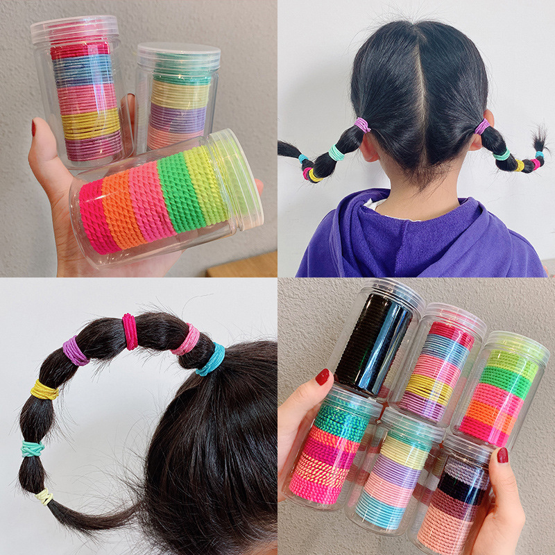 2020 New 50/100PCS/Set Girls Colorful Small Elastic Hair Bands Ponytail Holder Scrunchies Rubber Bands Fashion Hair Accessories