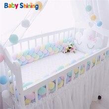 Детские блестящие 4 СМЕШАННЫЕ ВЕРЕВКИ детская кроватка бампер 1 шт. 1 м/2 м/3 м новорожденных кровать бампер ручной работы Детский манеж на детской кровати длинные бамперы