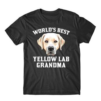 World'S Best Yellow Lab Grandma Dog Graphic T-Shirt Stylish Custom Tee Shirt