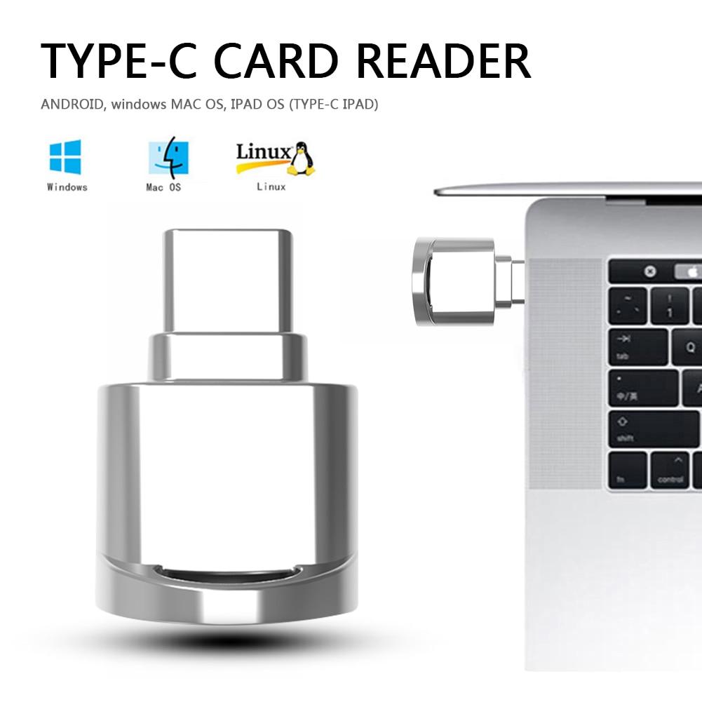 Portable Mini Card Reader Type C Micro SD TF Memory Card Reader OTG Adapter USB 3.1 Card Reader For Phone