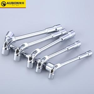 Image 1 - 8mm/ 10mm/ 12mm ~ 19 millimetri L tipo Angolato Socket Spanner Wrench con Attraverso Il Foro chome vanadio Cr V In Acciaio Fatto