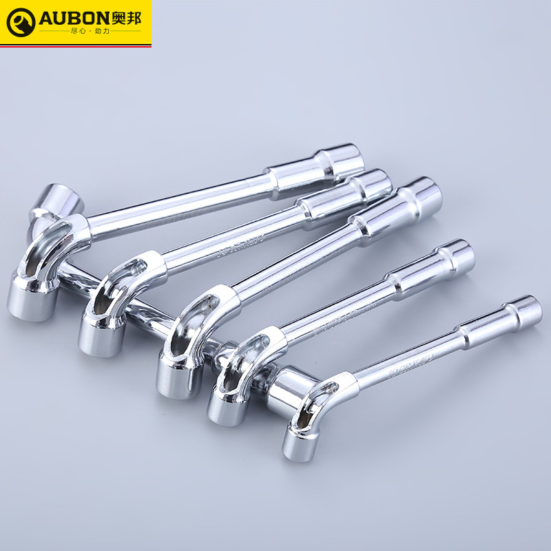 8mm/ 10mm/ 12mm~ 19mm L Type Angled Socket Wrench Spanner With Through Hole Chome Vanadium Cr-V Steel Made