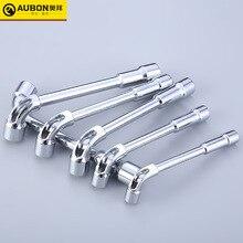 Llave de vaso acodada tipo L, 8mm/ 10mm/ 12mm ~ 19mm, llave inglesa con orificio pasante, acero cromado vanadio CR V