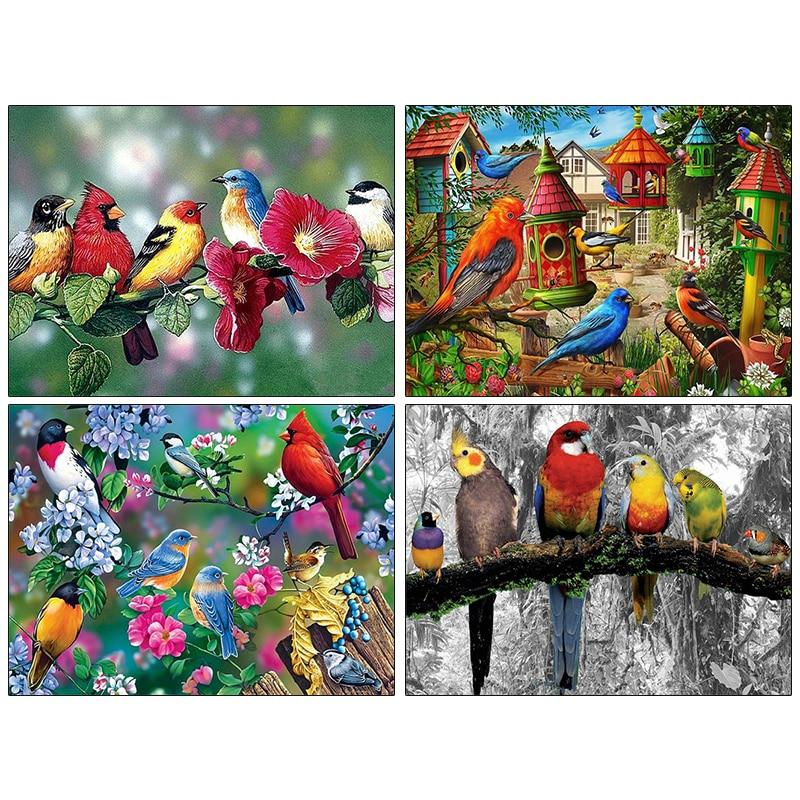 Pdmdog алмазная живопись 5d птицы цветок Алмазная вышивка животные