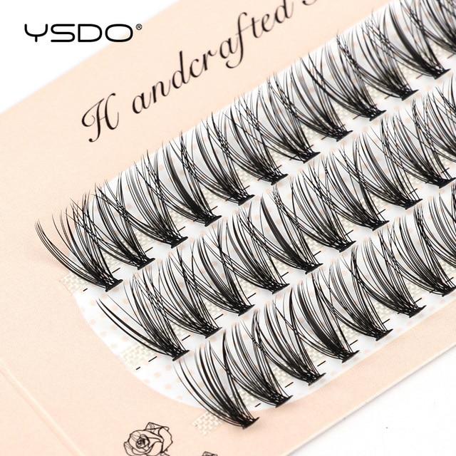 YSDO 60 Bundles Mink Eyelash Extension Natural Volume False Eyelashes Individual 10/20/30D Cluster Lashes Makeup Lashes Bunche 6