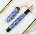 Moonman M600S целлюлоидная авторучка MOONMAN Iridium Fine Nib 0 5 мм кристально синяя модная офисная подарочная ручка для бизнеса