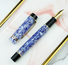 Moonman M600S Celluloid Fountain Pen MOONMAN Iridium Fine Nib 0.5mm Crystal Blue Fashion Office Writing Gift for Business