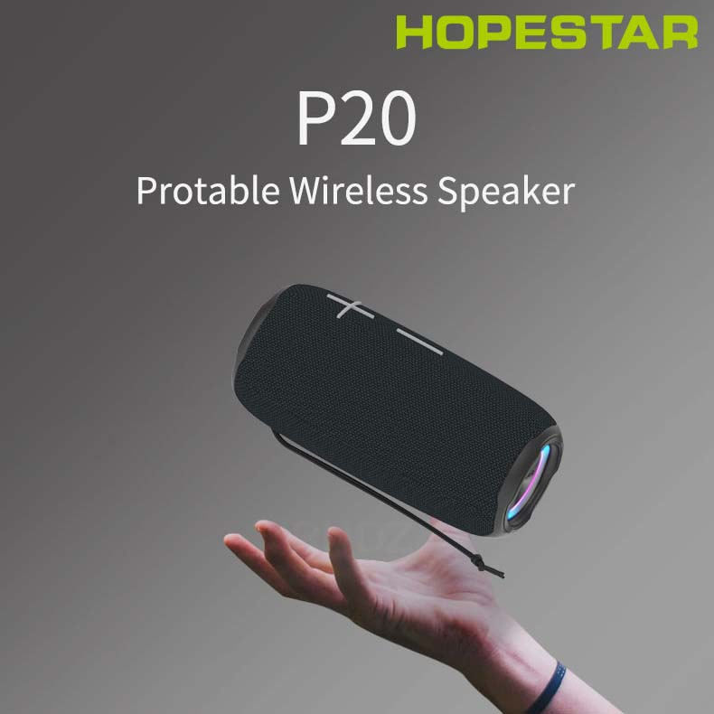 HOPESTAR-P20 waterproof Bluetooth speakers 20W TWS super bass subwoofer portable audio 2400mAh battery With mobile power FMradio