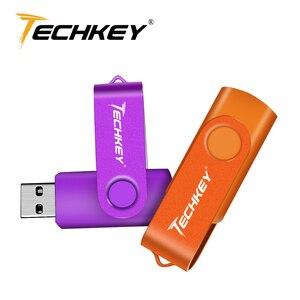 Usb флеш-накопитель 32 ГБ флешка Techkey 4 ГБ 8 ГБ 16 ГБ ручка драйвер usb карта памяти cle 100% реальная емкость usb 2,0 u-диск для ПК