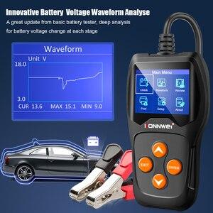 Image 4 - KONNWEI – testeur de batterie de voiture KW600, analyseur 12V, 100 à 2000CCA, Test de santé de la batterie/défauts, écran couleur numérique 12V, Diagnostic automatique