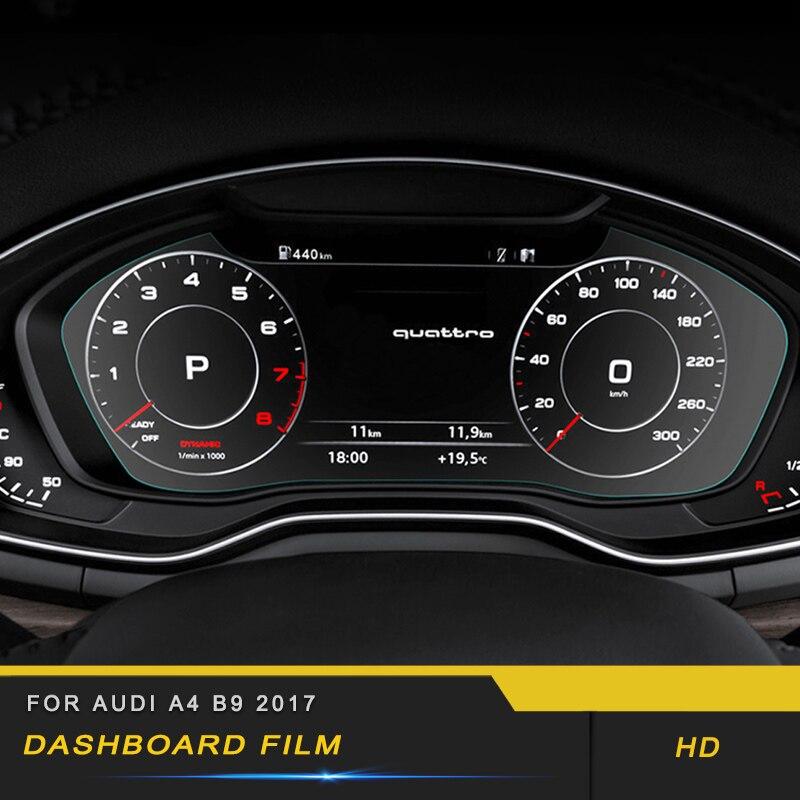 For Audi A4 A5 S4 S5 B9 2017 2018 Car Dashboard Monitor Screen Protector Film Cover Trim Sticker Interior Accessories