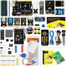 Novo atualizado keyestudio super starter kit com placa v4.0 para arduino starter kit para unor3 32 projetos + tutorial com caixa de presente