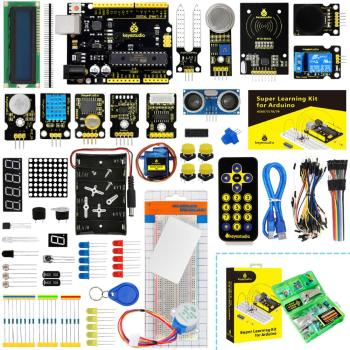 NEW Upgraded Keyestudio Super Starter kit with V4.0 Board  for Arduino Starter kit  for UNOR3 32Projects + Tutorial W/Gift Box недорого