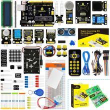 Nowy ulepszony zestaw startowy Keyestudio Super z płytą V4 0 do zestawu startowego Arduino do projektów UNOR3 32 + samouczek W pudełku tanie tanio CN (pochodzenie) Napęd ic KS0078 Elektryczne zabawki 0-50 100TQFP