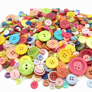 50Gram Mix Size Shape Lots Colors Buttons For Scrapbook Crafts DIY Handmade Baby Children Clothing Sewing Accessories