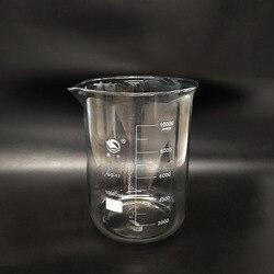 Bicchiere di vetro 10000 ml, Laboratorio bicchiere 10L, A Basso modulo con laurea e becco, di vetro Ad Alta borosilicato