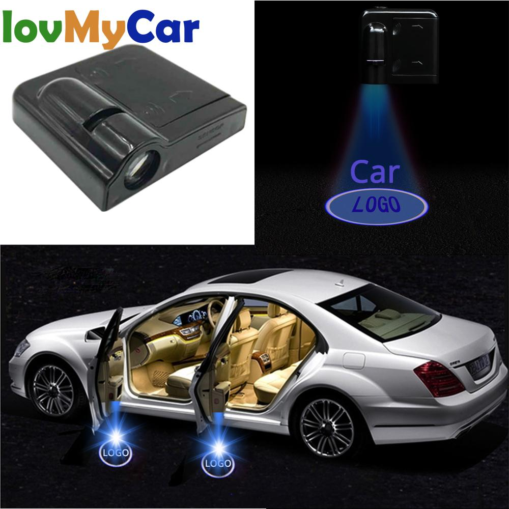 Car Led Wireless Car Door Logo Light Welcome Decor Lamp Laser Shadow Lamp Projector Light Atmosphere Car Light Car Accessories