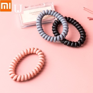 Image 2 - Youpin New Telephone line loop Matte Minimalistic headdress tie hair high quality Rubber band Hair ring for girl women Long hair