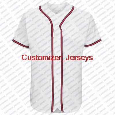 Custom 2019 New Atlanta Quick-Dry Flexible Short T-shirts Cheap  Flex Baseball Jersey Shirt For Men Women Youth