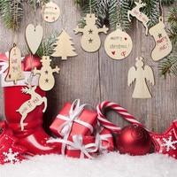 Wooden Christmas Tree Hanging Pendants Set