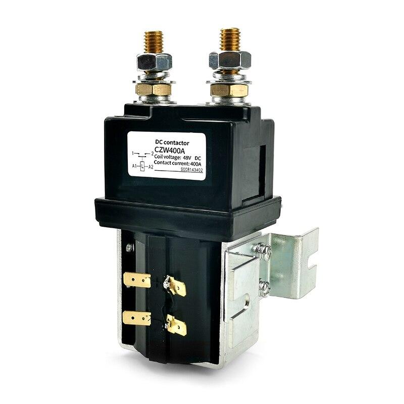 H3718a5cd3cec4652901e1978b92f54b9Y - SW200 400A DC Contactor Normally Open 12V 24V 36V 48V 60V 72V DC Contactor CZW400A for forklift handling wehicle car winch