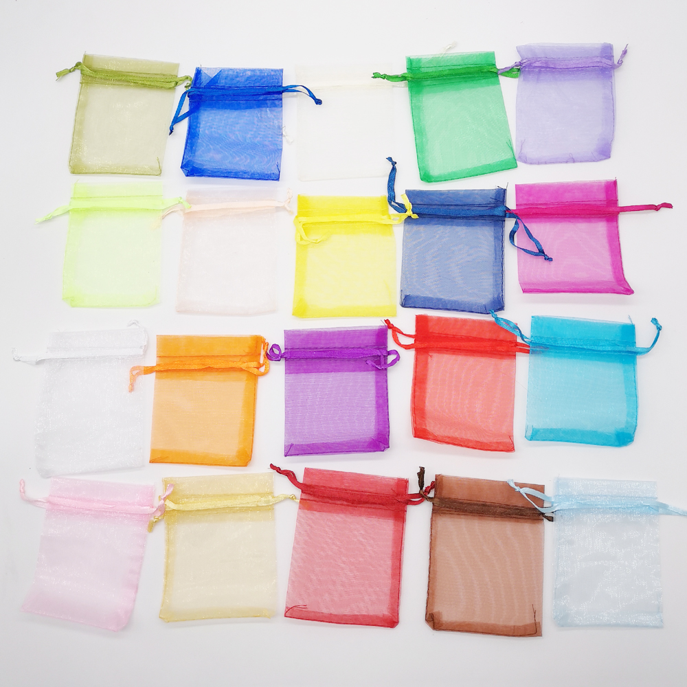 50pcs Organza Bag Jewellery Bags Pouch 10x15cm Jewelry Packaging Display Organza Drawstring Bag Packaging For Jewelry Pouches