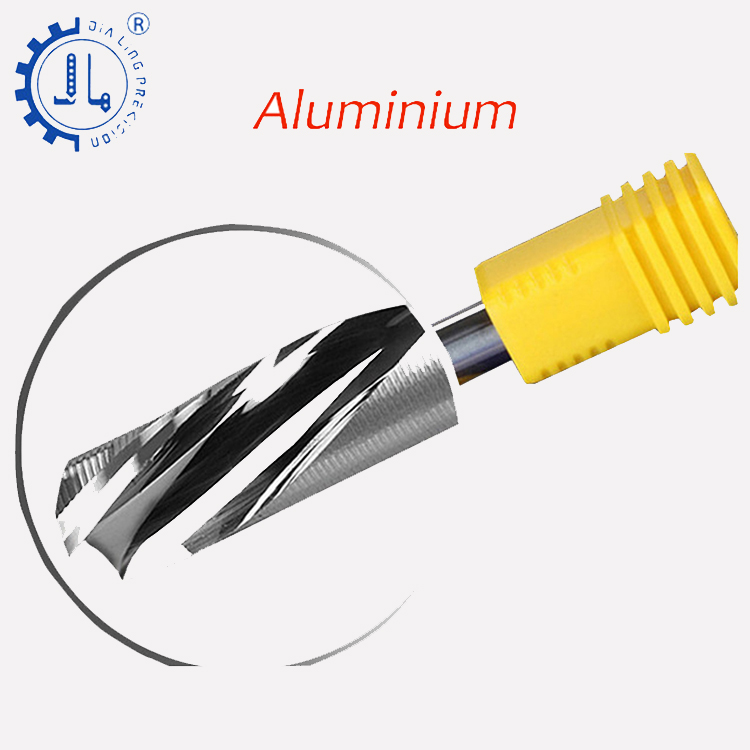 JIALING 1PC one flute aluminum cutting cutter tools step cnc router bits/end mill for