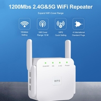 EU/Us-stecker 2 4G/5G Drahtlose WiFi Repeater WiFi Extender 1200Mbps Long Range Wifi Repeater wi-Fi Signal Verstärker