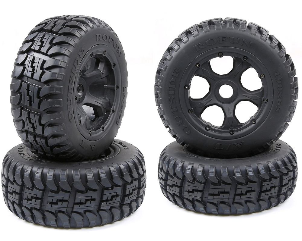 All-terrain tires assembly for ROFUN ROVAN HPI KM BAJA 5T 5SC image