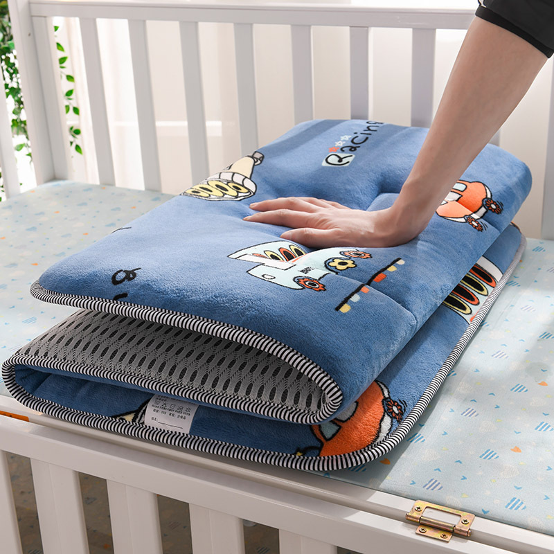 Cot Bed Mattress Pad Boys Crib Bedding Set Travel Bed Cradle Sleep Pad Dual Sides Breathable Boys Room Decorations Play Mat