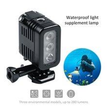 30 Meters Underwater Waterproof Diving LED Light Spot Lamp for GoPro Hero 5 4 3+ 3 Sport Cameras