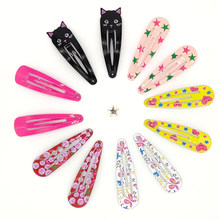 Fashion Colorful Square Water Droplets Hair Clips Girl Cute Hairpins Barrettes Headbands Headwear Hair Accessoriees(China)