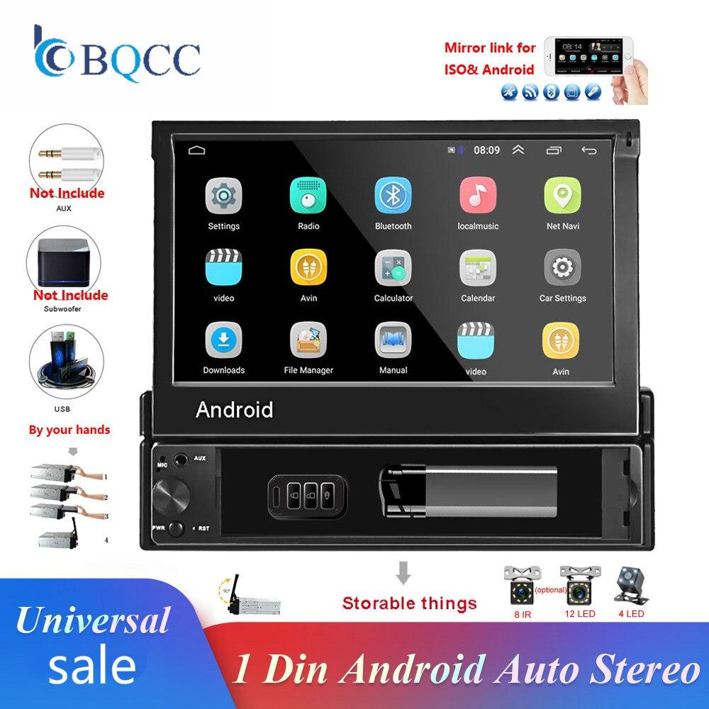 1 din Android 8.1 GO lecteur de Navigation GPS DVD de voiture Quad-Core 7 ''universel autoradio WiFi Bluetooth MP5 lecteur multimédia