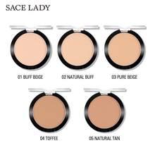 SACE LADY Compact kontrola oleju w proszku matowy makijaż ustawienie 5 niewidoczne wciśnięty Mate kolory naturalny proszek makijaż pory A7T5