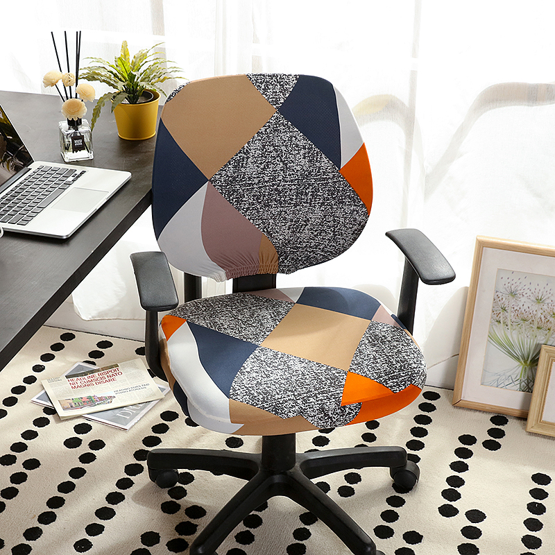 2pcs/set Universal Office Split Chair Cover Elastic Spandex Chair Back Cover+Seat Cover Anti-dirty Office Computer Chair Cover(China)