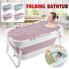 Dobrável banheira adulto duas crianças balde de banho grande banheira do agregado familiar adulto multifuncional estável deslizamento banheira