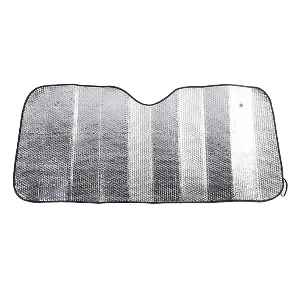 Aluminum Foil Car Windshield Sun Protection Cover, Folding 130*60CM Auto Front Window Sun Shade Visor Protective Cover