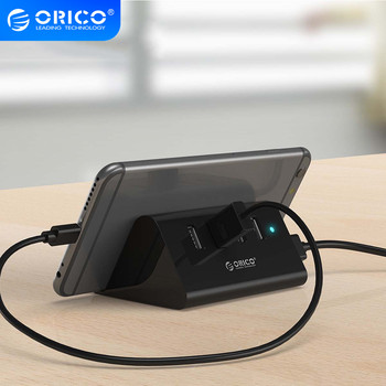 ORICO SHC USB HUB Mini 4 Port USB 3.0/ 2.0 HUB With Phone Tablet Holder 1M Data Cord USB Splitter for Laptop Computer Notebook