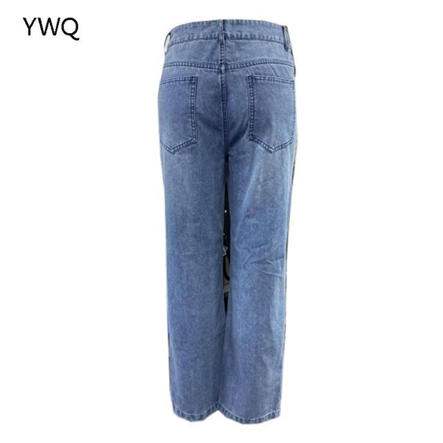 Baggy Jeans Straight Leg Ripped Jeans For Women Fashion Loose High Streetwear Women High Waist Pants Hole Boyfriend Trousers 4