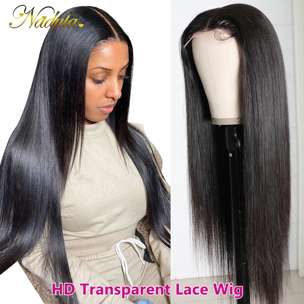 Nadula Hair 5x5 HD Lace Front  Wigs for Black Women Straight Hair HD Lace Frontal Wig brazilian Hair Full Wig 28inch 1