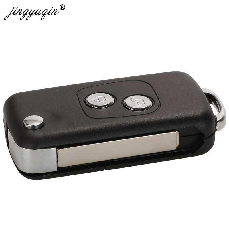 Jingyuqin 2 BTN modifié clé de voiture à distance pour Citroen C1 C2 C3 C4 Picasso Xsara Peugeot 206 306 307 107 207 407 partenaire