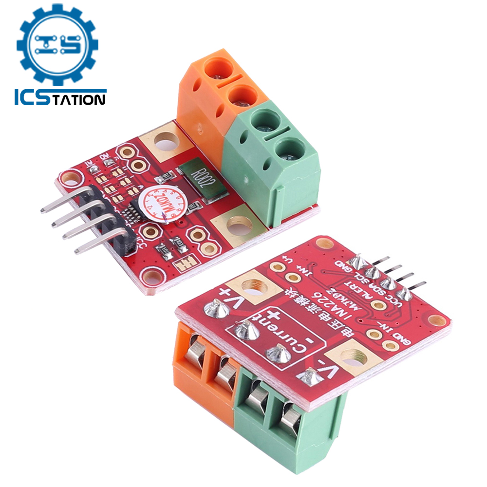 Двухнаправленный модуль датчика мониторинга тока/напряжения с интерфейсом INA226 IIC I2C, плата прерывания нулевого дрейфа для Arduino