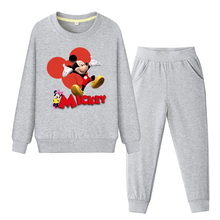 Baby Boys Girls Kids Clothes Set Mickey Autumn Costume Children Clothing Long Sleeve Sweatshirt and Pants Sport Suit Tracksuit
